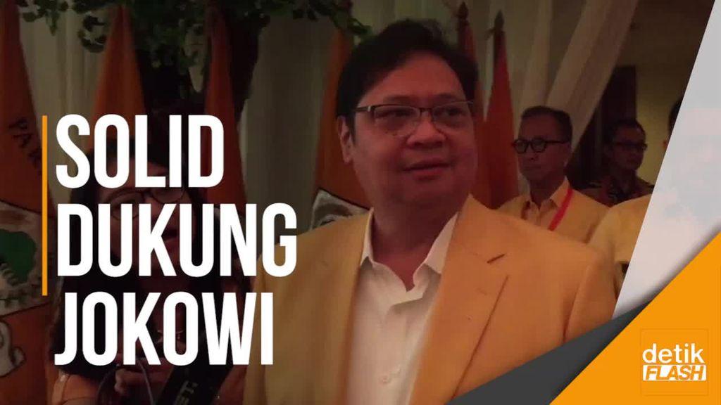 Airlangga Tetap Bawa Kemudi Golkar Dukung Jokowi Dua Periode
