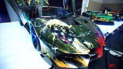Coretan Hand Painted di Lamborghini Raffi Ahmad