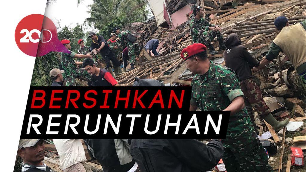 Ada Bangunan Roboh di Bogor Akibat Gempa, Kopassus Turun Tangan
