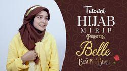 Tutorial Hijab Mirip Princess Belle