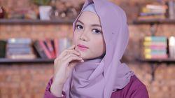 Tutorial: Hijab Pashmina Simpel Bahan Chiffon