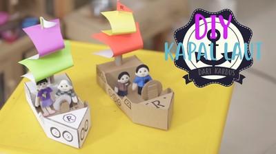 Yuk Buat Mainan Kapal dari Kardus Bersama Anak