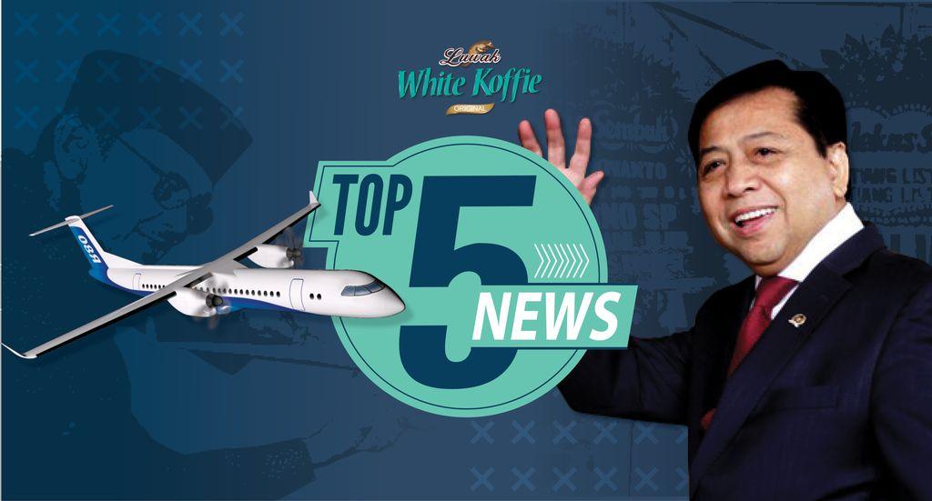 Top 5 News: Karangan Bunga Satire Buat Novanto, Patungan Pesawat Habibie