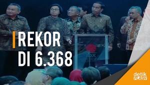 Pertama Kali Ditutup Presiden Jokowi, IHSG Cetak Rekor Tertinggi