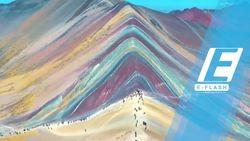 Wah... Cantiknya Pegunungan Berwarna Pelangi di Peru Ini!