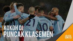 Manchester City Semakin Kokoh di Puncak Klasemen