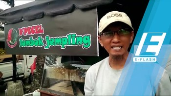 Gerobaknya Portabel, Dagangan Pecel di Bekasi Ini Laris Manis