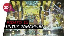 Pidato Emosional IU di Golden Disc Awards untuk Jonghyun SHINee