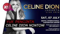 Asyik! Celine Dion Bakal Konser di Indonesia 7 Juli 2018
