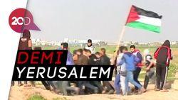 Jalur Gaza Membara Saat Warga Palestina Bentrok dengan Militer Israel