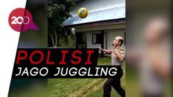 Viral! Aksi Polisi Pamerkan Kemampuan Juggling Bola