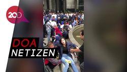 Doa Netizen untuk Korban Tower II BEI yang Ambruk