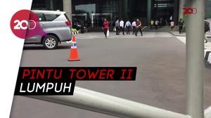Tower II BEI Dijaga Polisi, Karyawan Masuk Lewat Tower I