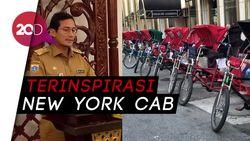 Alasan Sandi Hidupkan Becak di Jakarta
