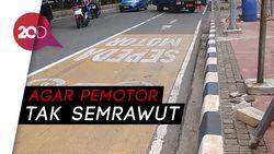 Kembalinya Jalur Khusus Sepeda Motor di Jalan Medan Merdeka Barat