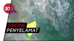Pakai Drone, Dua Remaja Berhasil Diselamatkan