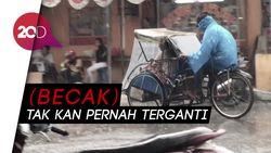 Becak Jakarta... Eksis Selalu di Hati Kaum Ibu