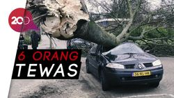 Ngeri! Badai Super Kencang Lumpuhkan Belanda