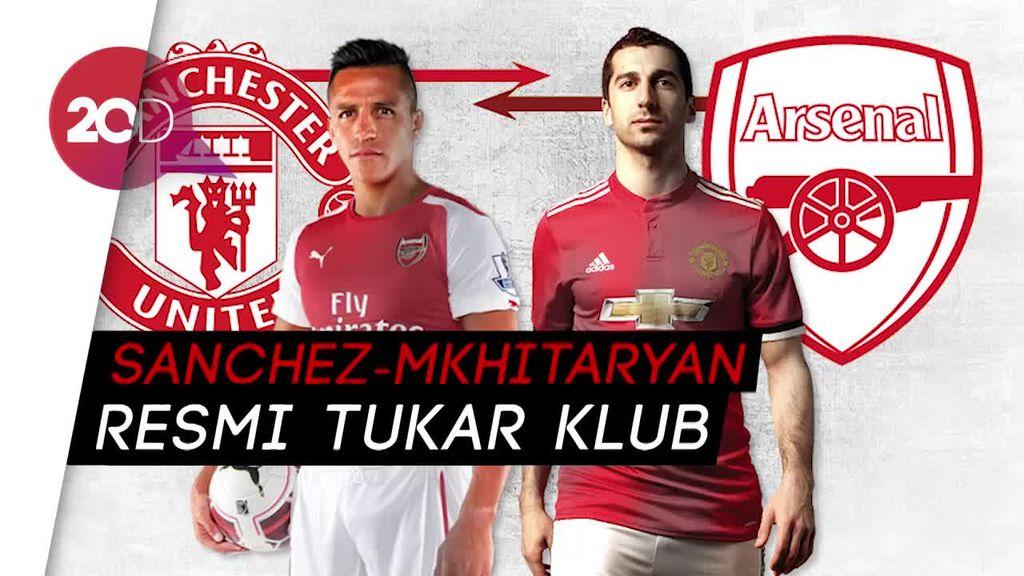 Resmi! Sanchez-Mkhitaryan Tukar Klub dan Wujudkan Mimpi