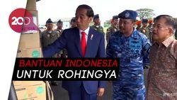 Sebelum ke Lima Negara, Presiden Jokowi dan Wapres Tinjau Bantuan ke Rakhine