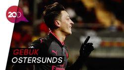 Arsenal Bermain Nyaman, Oezil Turut Sumbang Gol