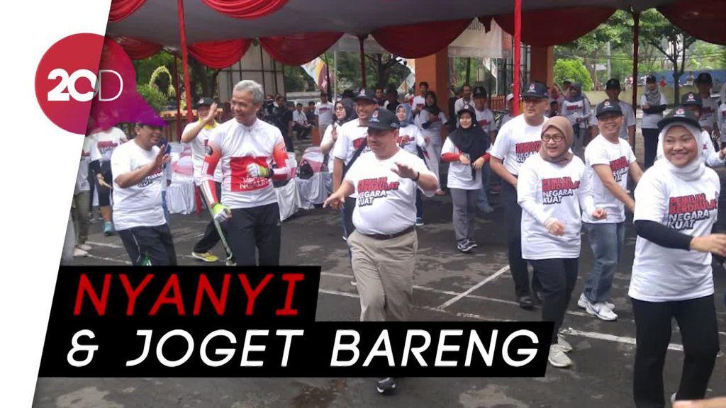 Keseruan Kampanye Damai Paslon Pilkada Jawa Tengah 2018