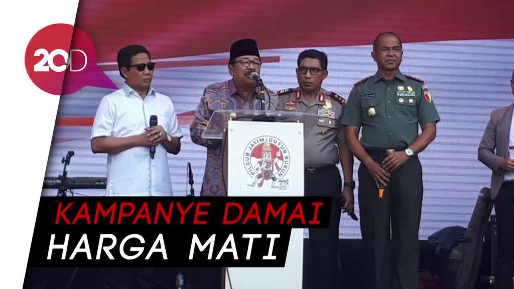 Kemeriahan Komitmen Kampanye Damai di Pilgub Jatim 2018