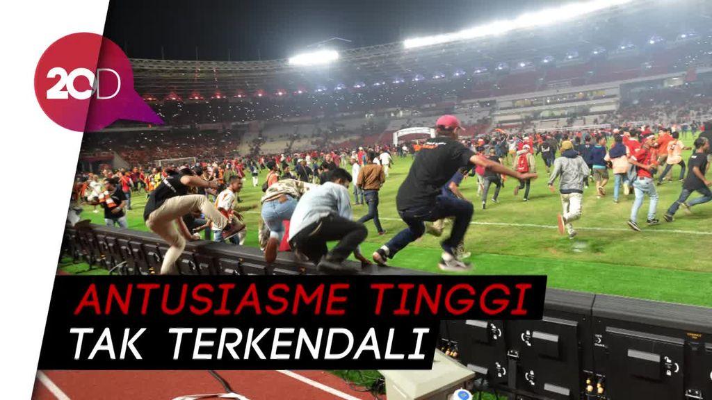 Wapres JK Nilai Pengerusakan Stadion GBK akibat Over Kapasitas