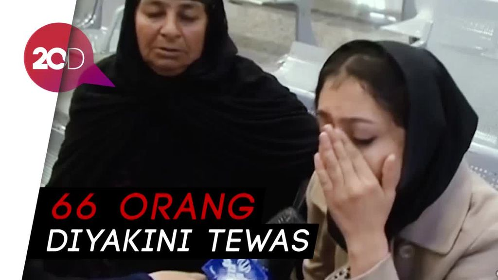 Suasana Haru Keluarga Korban Kecelakaan Pesawat Iran