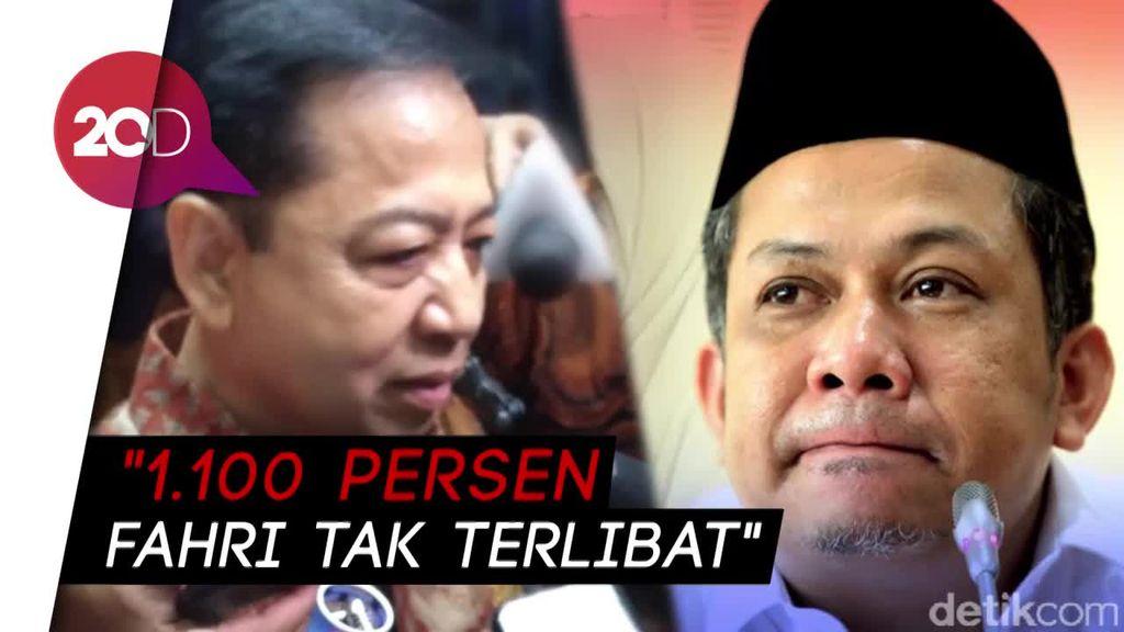 Nazar Tuding Fahri Terlibat Korupsi, Novanto: Fahri Orang Bersih!