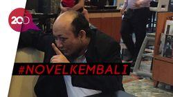 Panggung dan Karangan Bunga Sambut Novel di KPK