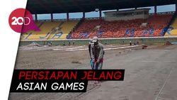 Renovasi Stadion Si Jalak Harupat Masuki Tahap Pemasangan Rumput