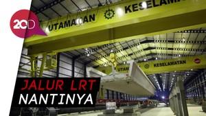 Intip Pemasangan U-Shape Grider LRT Jabodebek