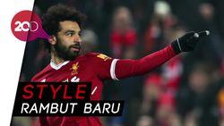 Wajah Mohamed Salah di Rambut Penggemar