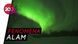 Cantiknya Aurora Borealis Menari di Langit Finlandia