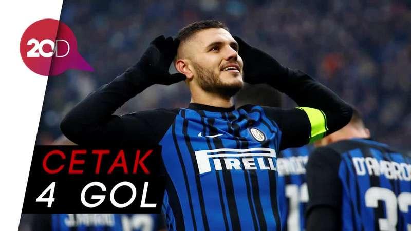 Gol Cantik Icardi Warnai Kemenangan Inter