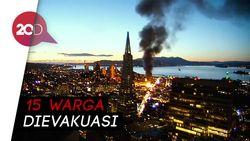 Api Membubung Tinggi di Kawasan Elit San Francisco
