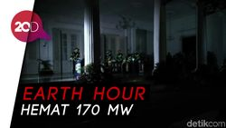Wow! Earth Hour Malam Ini Setara Penghematan Rp 249 Juta