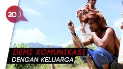 Perjuangan Warga Pedalaman Aceh Mencari Sinyal