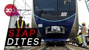 Akhirnya Kereta MRT Menapak di Rel Lebak Bulus