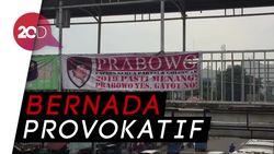 Spanduk Prabowo Yes, Gatot No! Berkibar di Matraman