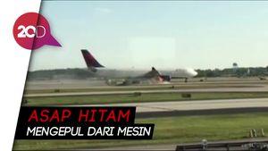 Bikin Deg-degan! Mesin Pesawat Delta Air Lines Terbakar
