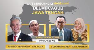 Nanti Malam! Live Debat Cagub Jawa Tengah Putaran I