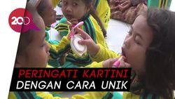 Hari Kartini, Siswa PAUD di Trenggalek Lomba Merias Wajah Teman