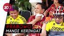 Gaya Prabowo Gowes di Acara Milad PKS