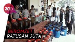 Polisi Bongkar Rumah Produksi Miras Oplosan di Madiun