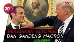 Mesranya Trump dan Macron
