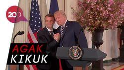 Peluk dan Cium Donald Trump untuk  Presiden Prancis