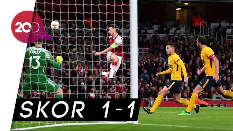Lawan 10 Pemain Atletico, Arsenal Hanya Mampu Bermain Seri