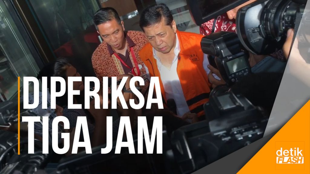 Wajah Lelah Papa Novanto Usai 3 Jam Diperiksa KPK